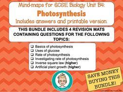 GCSE Biology: B4 Photosynthesis Revision Bundle