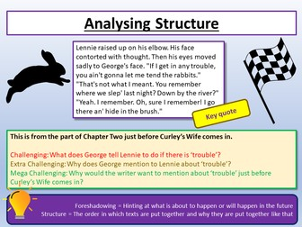 Of Mice and Men - Analysing Structure