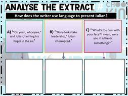 Wonder by RJ Palacio. AQA English Language Paper 1, Section A SOW