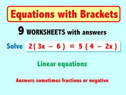Equations with Brackets