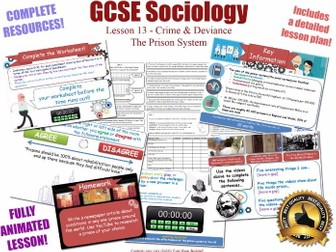 Prison, Punishment, Sentencing - Crime & Deviance L13/20 [ AQA GCSE Sociology - 8192] New Spec KS4
