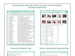 Running Errands and Having Things Done Combo Activity Worksheets