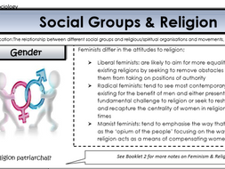 AQA Sociology - Year 2 - Beliefs in Society - Social groups and religion
