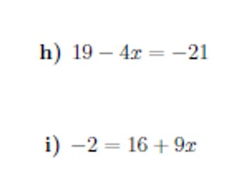 Two-step equations worksheet no 2 (with solutions)