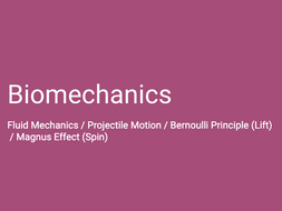 A-Level PE (OCR): Projectile Motion / Fluid Mechanics (Bernoulli & Magnus)