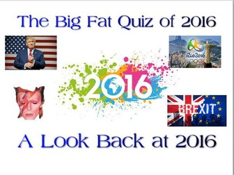 Quiz of 2016 – Perfect New Year Reflection