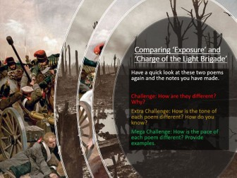 Power and Conflict - Exposure and Charge of the Light Brigade