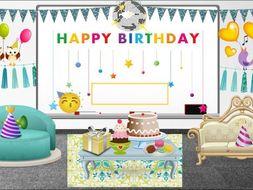 Birthday Virtual Classroom Background