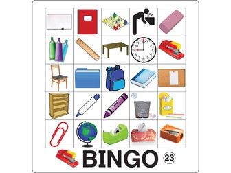 ESL Game - Classroom Vocabulary Bingo