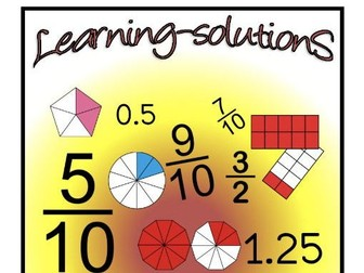 FRACTION FUN 3 - WORKBOOK + Screener + 60 Task Cards - FRACTIONS and DECIMALS - Year 4