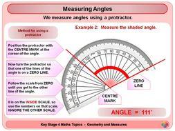 Angles - Measuring Angles KS4