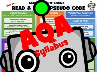 Computer Science: How to read and write AQA pseudo code
