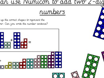 Numicon Adding Two 2 Digit Numbers