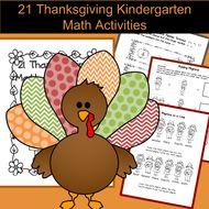 21 Math Activities for Kindergarten