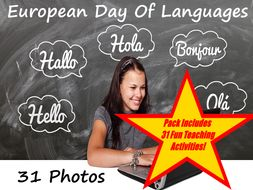 European Day Of Languages - Images and Creative Writing Prompts + 31 Fun Teaching Activities