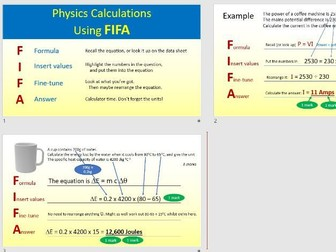 """How to do physics calculations, using the """"FIFA"""" method"""
