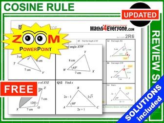 GCSE Revision (Cosine Rule)