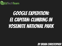 El Capitan - Climbing in Yosemite National Park