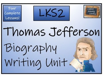 LKS2 Thomas Jefferson Biography Writing Activity