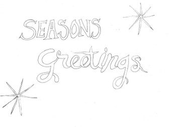 Seasons Greetings: Christmas Colouring Page