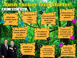 Bush Tucker Trial Starters Template!