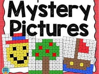 Multiplication Mystery Pictures Colour By Number