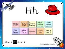 The letter 'h' PowerPoint (Phase 2)