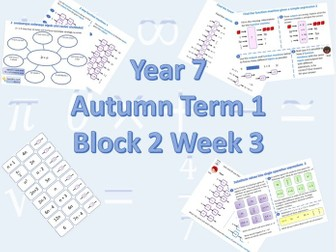Planning for White Rose Maths Secondary Autumn Term 1 Block 2 Week 3