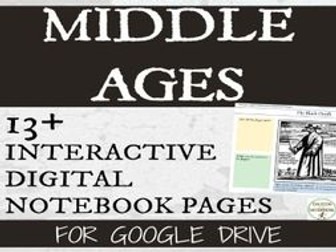 Middle Ages Interactive Notebook Digital Graphic Organizers for Google Drive