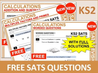 Maths SATs Bundle (Calculations)