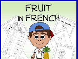 French Fruit Vocabulary Sheets, Worksheets and Matching Game