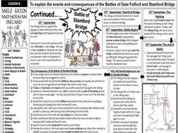 GCSE History Edexcel - Anglo-Saxon & Norman England: Gate Fulford and Stamford Bridge (Lesson 8)