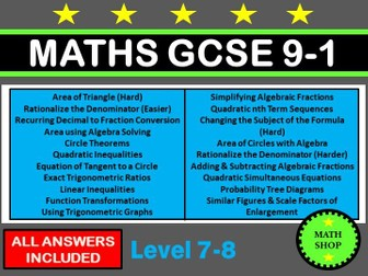 Gcse maths revision bundle by elsie99 teaching resources tes maths gcse 9 1 higher non calculator questions ccuart Image collections