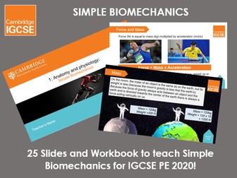 Simple Biomechanics - IGCSE Physical Education Ppt & Workbook