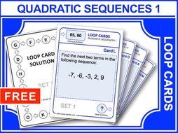 Quadratic Sequences 1 (Loop Cards)