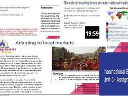 btec national business level 3 unit 5 international business
