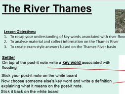 OCR GCSE SOW: Case Study Lesson on the Thames River Basin