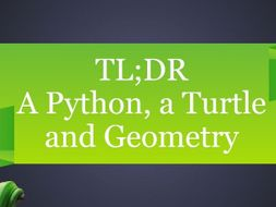 TL;DR A Python, a Turtle and Geometry