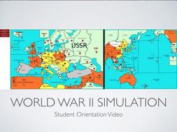 World War II Simulation Student Orientation Power Point and Keynote Presentations