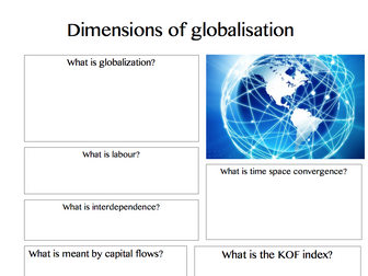 Global systems and global governance - New A level geography summary revision sheet templates