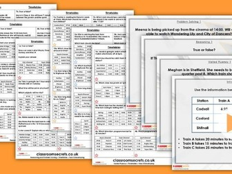 Year 5 Timetables Autumn Block 3 Step 6 Lesson Pack