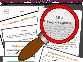 MLA Citations, MLA Formatting, Plagiarism, and Paraphrasing