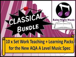 AQA A Level Music CLASSICAL Bundle