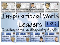 LKS2 History - Inspirational World Leaders Biography and Reading Comprehension Bundle