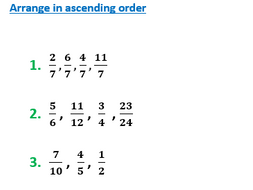 order fractions with unlike denominators by galvaniseedu  teaching  order fractions with unlike denominators by galvaniseedu  teaching  resources  tes