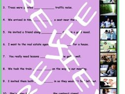 Infinitives of Purpose 3 Photo Worksheet Set