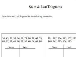 Gcse maths tes stem and leaf diagram worksheet by gcse maths tes stem and leaf diagram worksheet ccuart Images