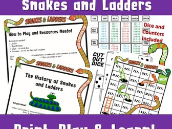 7 Times Tables Snakes and Ladders Multiplication Table