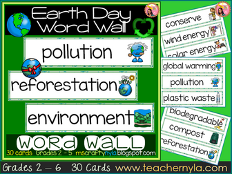 Earth Day Word Wall