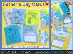 Father's Day Cards with Writing Prompts